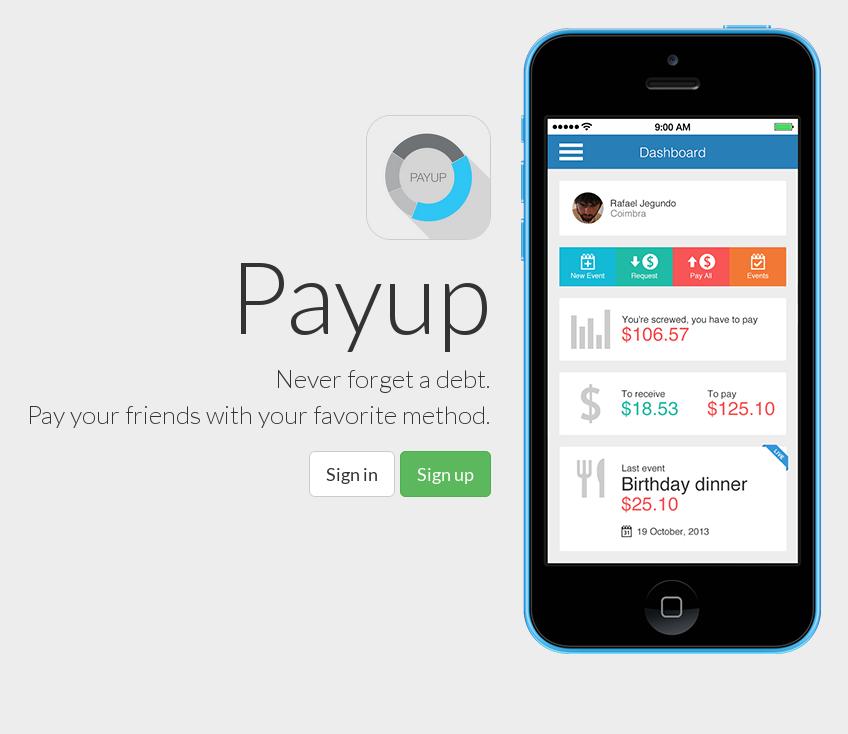 Payup landing page