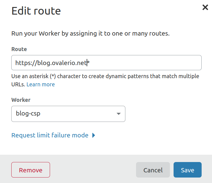 cloudflare workers routes modal
