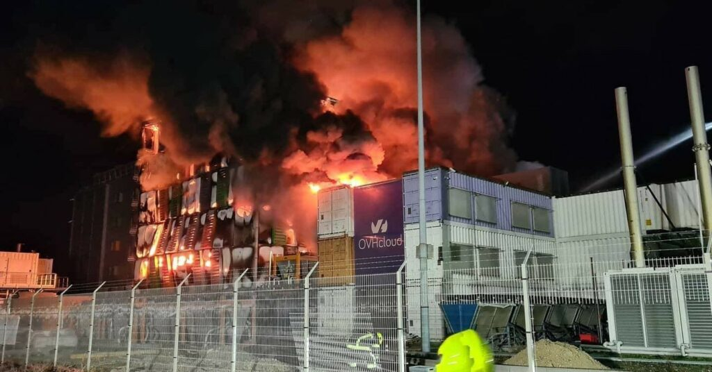OVH Strasbourg datacenter burning